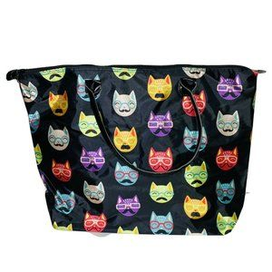 Unbranded Cat Pront Tote Beach Travel Bag